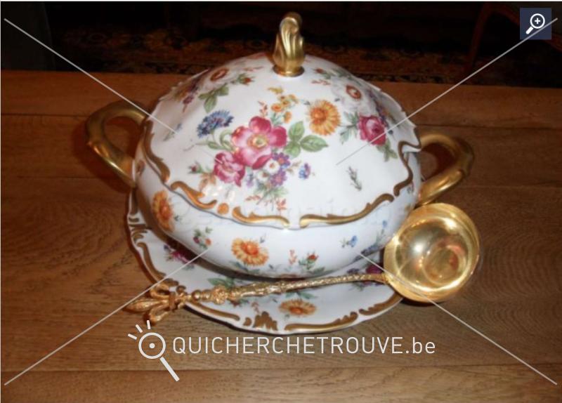 a vendre soupi re ancienne en porcelaine de limoges petites annonces art antiquit s belgique. Black Bedroom Furniture Sets. Home Design Ideas