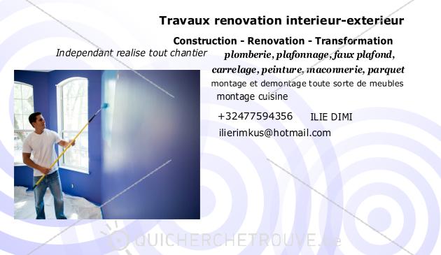 propose travaux de renovation a petit prix petites annonces a votre service belgique. Black Bedroom Furniture Sets. Home Design Ideas