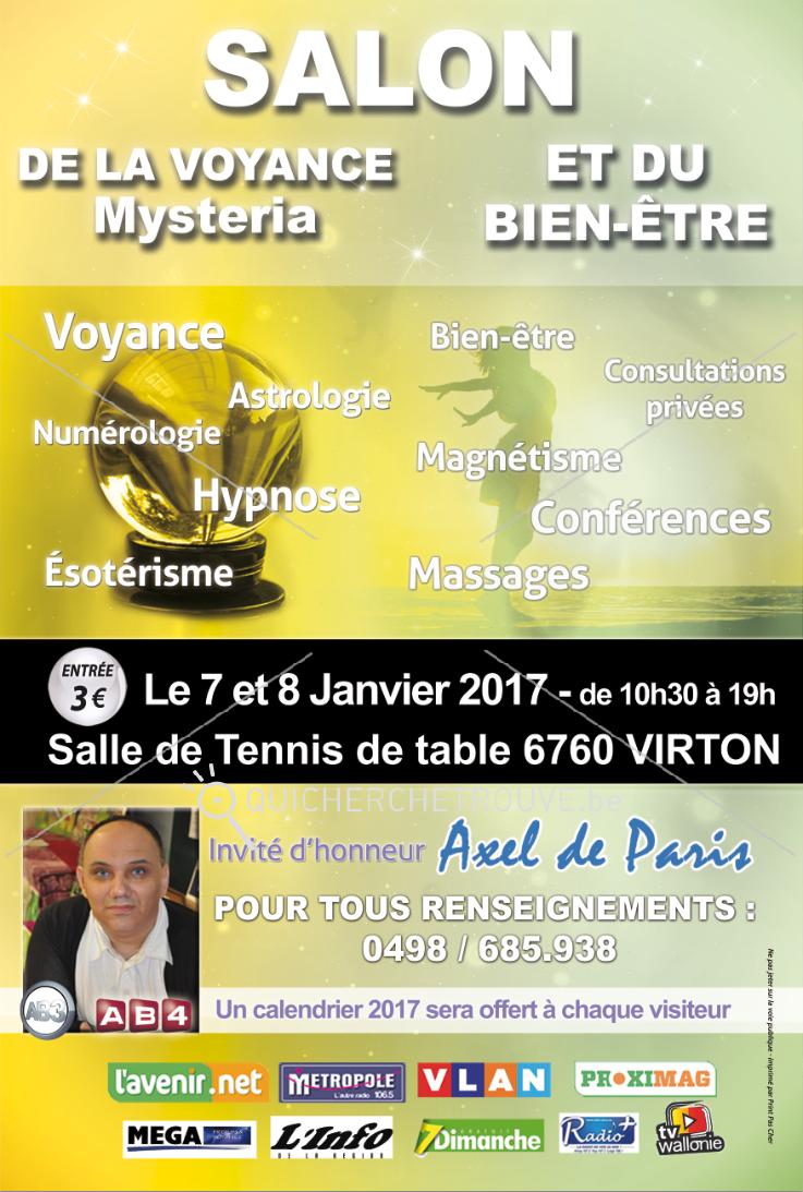 Propose salon de la voyance et du bien tre virton for Salon voyance 2017