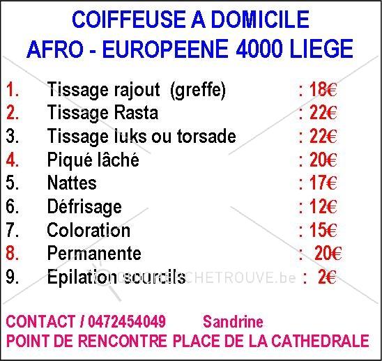 propose coiffeuse 224 domicile afro europ 233 enne 224 4000 liege petites annonces divers belgique