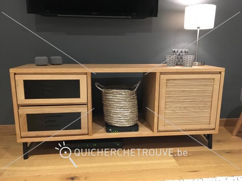 a vendre meuble t l style scandinave vintage petites annonces belgique. Black Bedroom Furniture Sets. Home Design Ideas