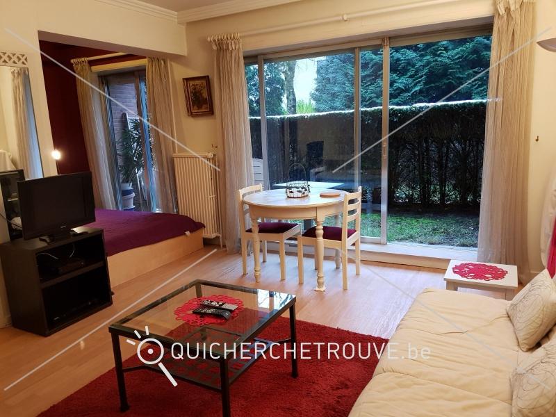 a louer un flat meubl 45 m2 avec petit jardin waterloo petites annonces belgique. Black Bedroom Furniture Sets. Home Design Ideas